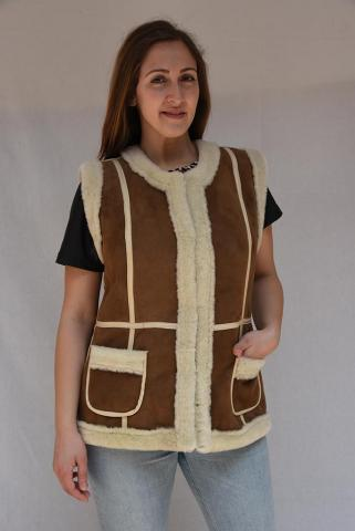 Women's lamb fur vest
