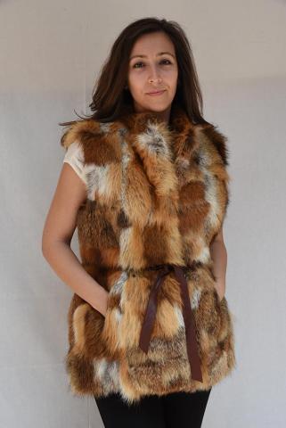 Women's fox vest