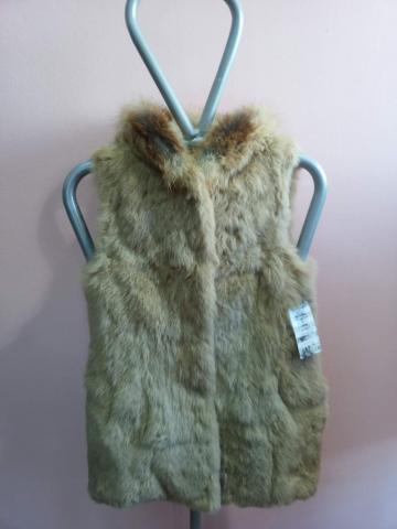 Women's vest with hood